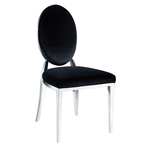 Black Round Back Dining Chair