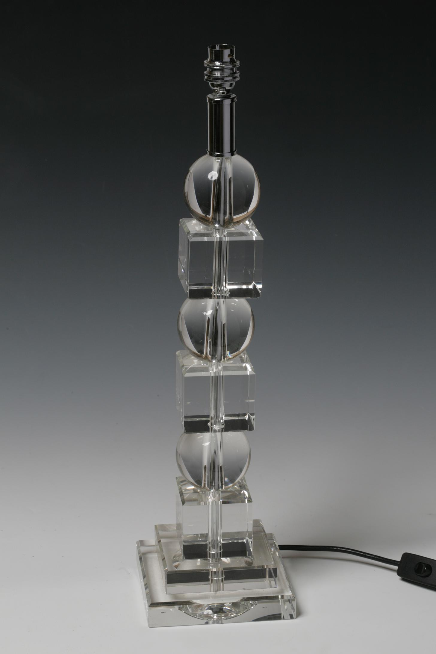 Ball and Square Crystal Lamp