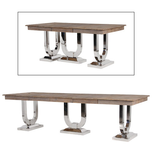 Recyc. Pine/Steel EXD. Dining Table